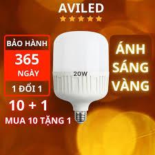 Bóng đèn LED trụ tròn 20W SÁNG VÀNG bóng đèn led bulb Linh Phi, tiết kiệm  điện AVILED phân phối BD2