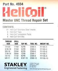 Helicoil Size Chart 7 16 Tap Drill Bit Size Mrandmrsc Co