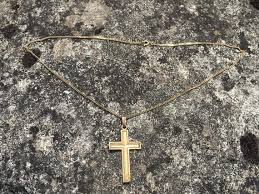 vintage french 18 carat gold cross