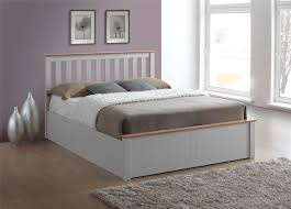 Phoenix Bedroom Furniture Phoenix Wood Ottoman Bed Frame Storage Small Double 4ft Pearl Grey