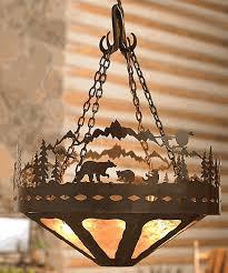 log cabin lighting ideas. simple ideas captivating bear family log cabin chandelier on lighting ideas