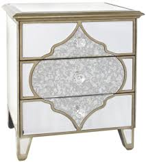 mirrored bedside table. milagro mirrored bedside cabinet - 3 drawer table