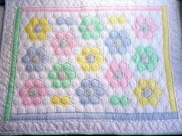 Handmade Amish baby Quilts and Baby Blankets for Sale & Amish Flower Garden Baby Quilt Adamdwight.com