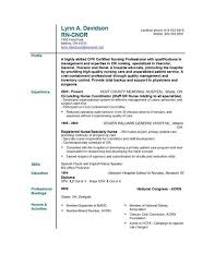Resume Template Examples free nursing resume templates