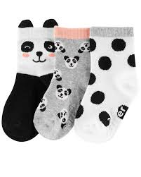 Carters Socks Size Chart 3 Pack Panda Socks Carters Com