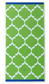 cool beach towel designs. Green Tile Print Beach Towel Cool Designs