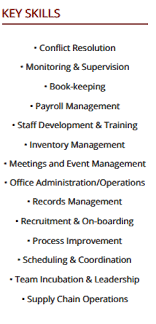 Admin Manager Cv Sample Office Manager Resume A 10 Step 2019 Guide With Samples