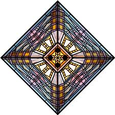 based on a stained glass design by frank lloyd wright that can be used for special occasions