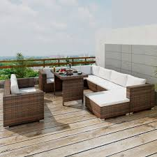 Vidaxl Garten Lounge Sitzgruppe 28 Tlg Braun Poly Rattan Kaufen