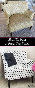 how to paint a polka dot chair pin it