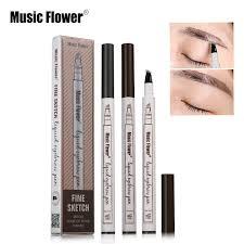 <b>Music Flower</b> Pensil Tattoo Sketsa Alis Mata Cair Anti <b>Air</b> untuk Alat ...