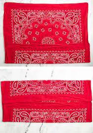 how to fold a no sew bandana face mask