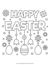 Free easter egg coloring page for kids | crafts and worksheets for preschool,toddler and kindergarten. Easter Coloring Pages Free Printable Pdf From Primarygames