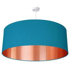 Extra Large Drum Shade Ceiling Light 70cm Extra Large Oversize Brushed Copper Effect Drum Shade