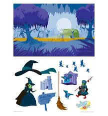 wizard of oz haunted forest activity set walljammer wall decal kids bedroom