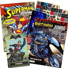Verwandte artikel zu superman jumbo coloring & activity book (64 pages). Amazon Com Bendon Publishing Dc Comics Batman Superman Coloring And Activity Book Set Two 96 Page Coloring Books Stickers And Superhero Door Hanger Toys Games