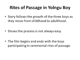 yolngu boy the yolngu refers to the traditional custodians of  8 rites of passage