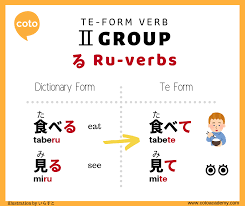 japanese verb te form chart how to conjugate te form in japanese handy illustrated