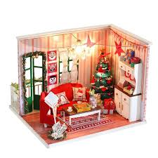 handmade dolls house furniture. Wholesale- Handmade Doll House Furniture Miniatura Diy Houses Miniature Dollhouse Wooden Toys For Children Grownups Christmas Gifts Dolls T