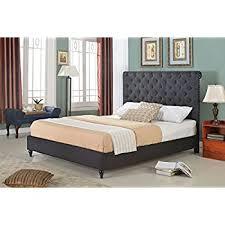 Amazoncom Home Life Cloth Black Linen 51Linen Platform Bed