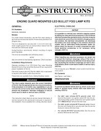 Harley Davidson Fog Lights Installation Instructions Engine Guard Mounted Led Bullet Fog Lamp Kits Harley
