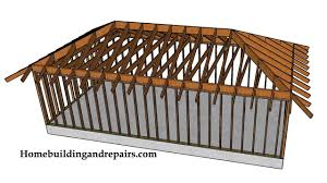 Joist Design Example Example Of Hip Roof With Ceiling Joist Construction Framing And Design
