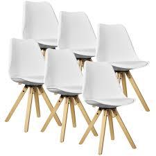 Esstisch Stühle Leder Weiss