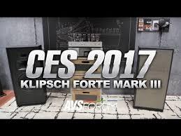 klipsch forte 3. best of ces: klipsch forte mark iii speakers 3