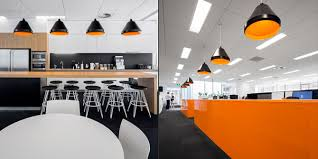 office hanging lights. Contemporary Open Office Lighting Design With Pendant And Recessed Ceiling Over Black Hanging Lights R