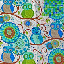 13 best Double-sided Quilt Fabric images on Pinterest | Stitching ... & Della Owls Blue Double-Faced Quilted Flannel Fabric by Valori Wells Free  Spirit http: Adamdwight.com