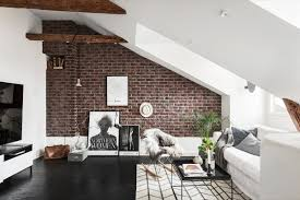 homey ideas brick wall decor room decorating living rooms with exposed walls decoration decorative stickers paper