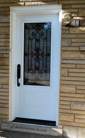 white single front doors. Single Front Entrance. Steel, White, Victorian Door With 3/4 Milan Wrought White Doors E