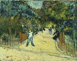 entrance to the public park in arles 1888