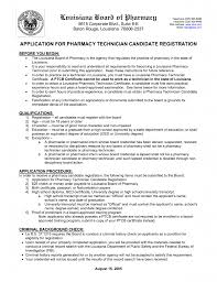 Resume Pharmacy Technician Resume