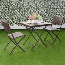 large size of costway pc outdoor folding table chair furniture set rattan cool bar bistro sets