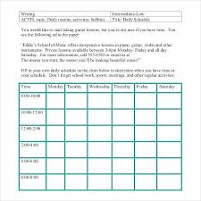Daily Scheduler Template Interesting Daily Schedule Template Free Word Excel Documents Chart Routine