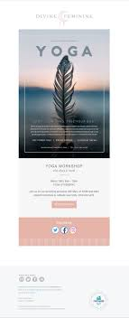 Promotional Email Template Design Promotional Email Template Designed For Yoga And Wellness