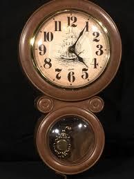 vintage nautical wall clock decorative spartus clock brown gold wall hanging decor