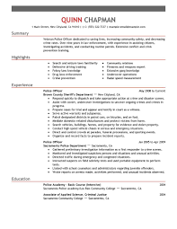 Police Officer Resume Objective Statement Free Resume Example