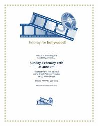 Movie Awards Party Invitation Party Invitations Free
