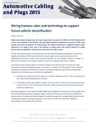 the challenges of futuristic automotive wiring harnesses upcoming slideshare