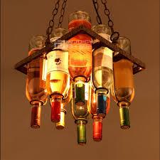 Us 37905 5 Offvintage Cafe Loft Bar Eisen Wein Flasche Lampe Kronleuchter Decken Drop Shop Cafe Bar Loft Korridor In Pendelleuchten Aus Licht