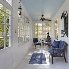 craftsman why are porch ceilings blue