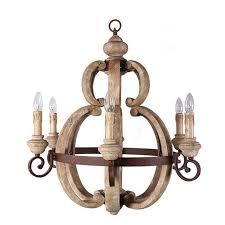 creative co op wood amp metal chandelier da4688 wood and iron chandelier