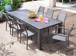 Ensemble table chaise exterieur meuble de jardin bois | Maisondours
