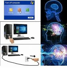 Turn Off Computer Turn Off Computer Stand By Restart Cancel Meme On Me Me