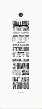 best images about apple s universe official typographic poster greatquotesstevejobschange
