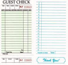Restaurant Guest Check Template