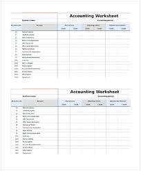 Accounting Worksheet Template Cycling Studio