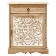 white washed mango wood. Vandara Small Cabinet White Washed Mango Wood E